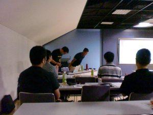 ㈱ゴールドウインの小田島氏と伊藤氏を講師として向かえ、四日市ドームで講演会が開催されました。